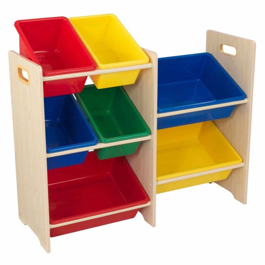 Afbeelding van KidKraft Speelgoed opbergmeubel 7 bakken beige 83x30x73,7 cm 15470