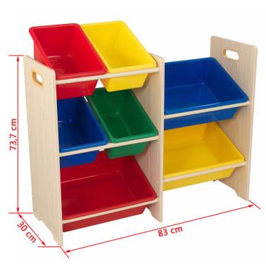 KidKraft Unité de rangement pour jouets avec 7 bacs Beige 15470[3/3]