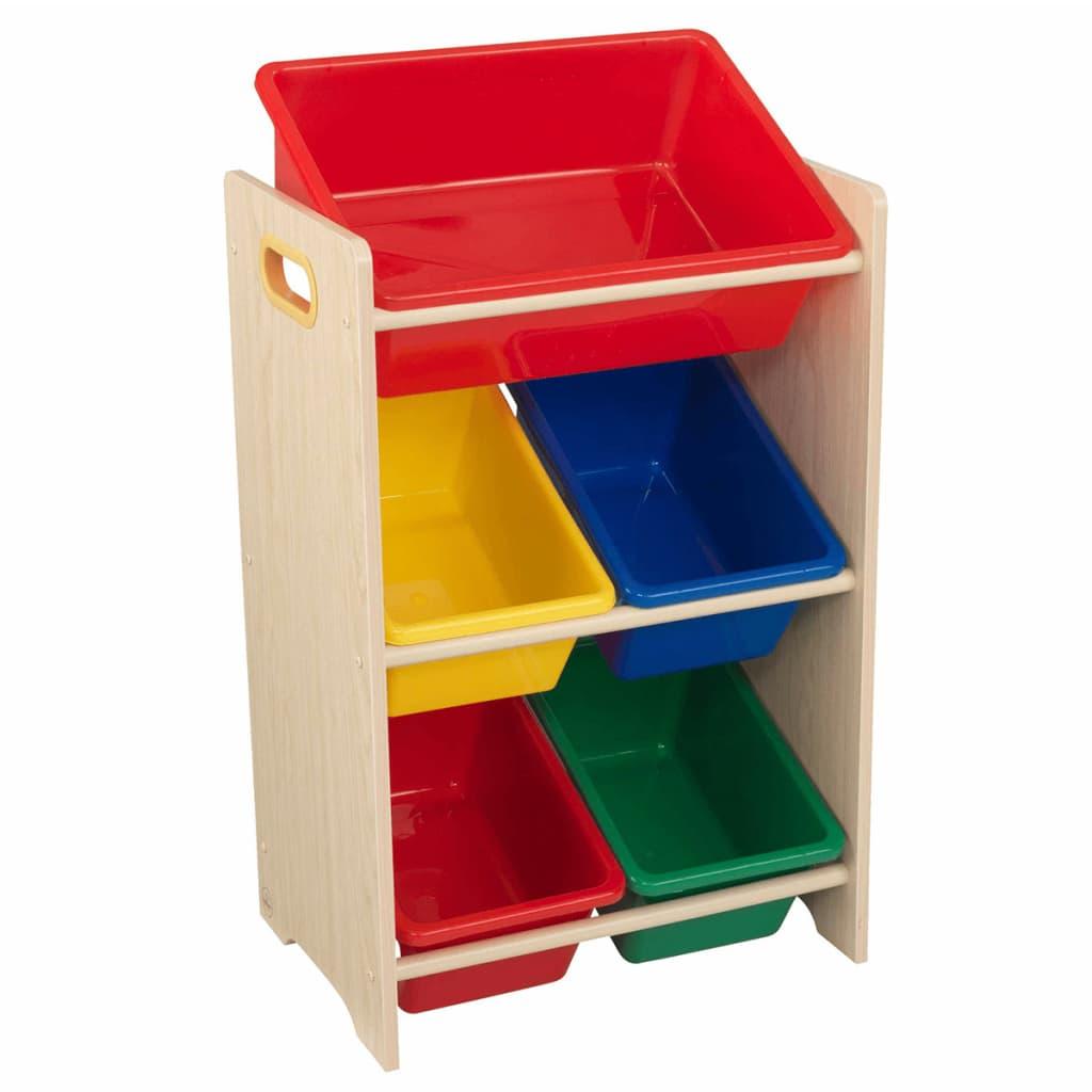 Afbeelding van KidKraft Speelgoed opbergmeubel 5 bakken bruin 42,6x29,9x74,3 cm 15472