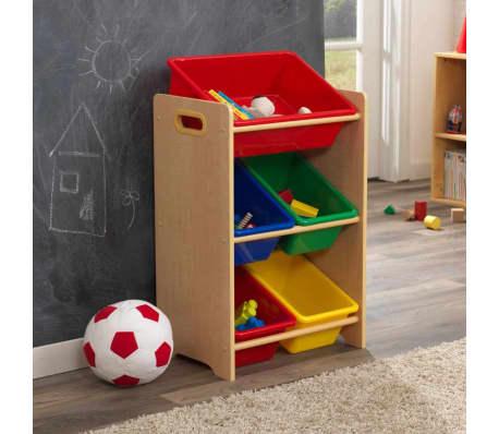kidkraft spielzeug regal mit 5 boxen braun 42 6 x 29 9 x 74 3 cm 15472 im vidaxl trendshop. Black Bedroom Furniture Sets. Home Design Ideas