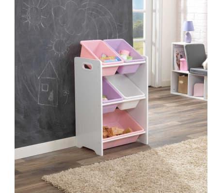 kidkraft spielzeug regal kiste mit 5 kisten wei 42 6 x 29 9 x 74 3 cm 15473 ebay. Black Bedroom Furniture Sets. Home Design Ideas