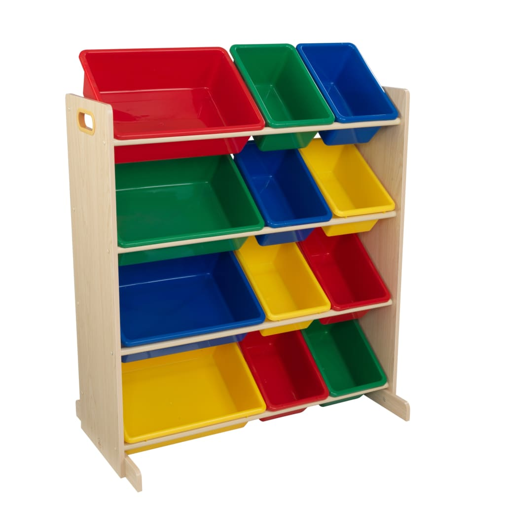 KidKraft Regał na zabawki Sort It & Store It, barwy podstawowe