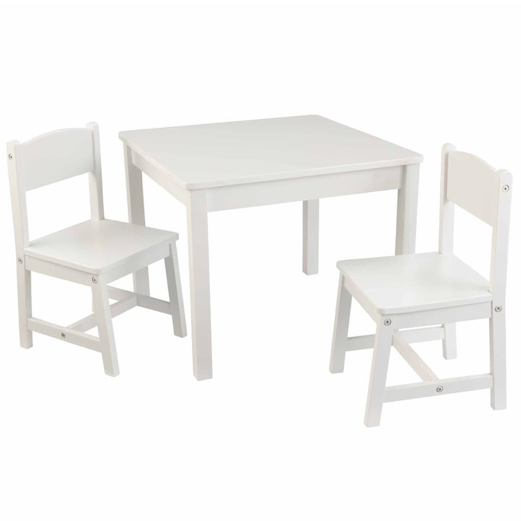 Afbeelding van KidKraft Kindertafel en stoelen set wit hout 21201
