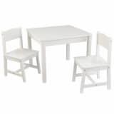 KidKraft Ensemble de table et chaises en bois pour enfants Blanc 21201
