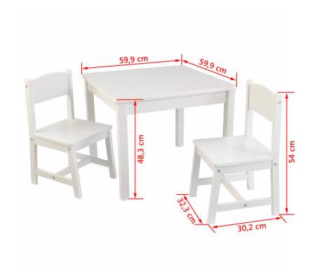 kidkraft kindertisch mit zwei st hlen wei holz 21201 g nstig kaufen. Black Bedroom Furniture Sets. Home Design Ideas
