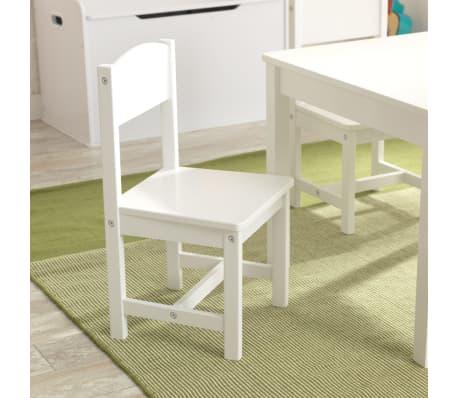KidKraft Table de ferme avec 4 chaises Blanc