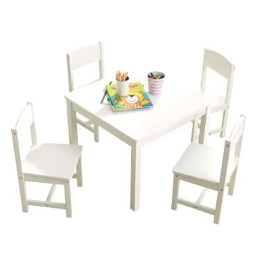 KidKraft Table de ferme avec 4 chaises Blanc |