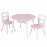 KidKraft Kindertisch mit 2 Stühlen Rosa Massivholz 26165