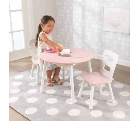 KidKraft Ensemble de table de rangement et chaises pour enfants 27065[3/8]