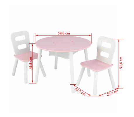 Kidkraft Kindertisch Mit 2 Stuhlen Rosa Massivholz 26165 Gunstig