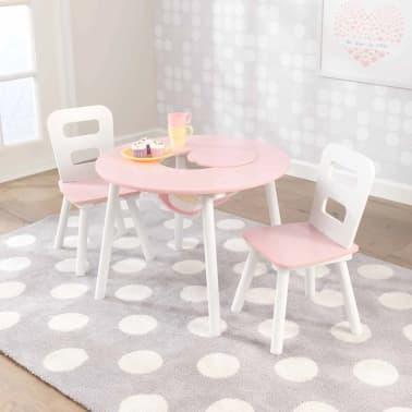 KidKraft Ensemble de table de rangement et chaises pour enfants 27065[2/8]
