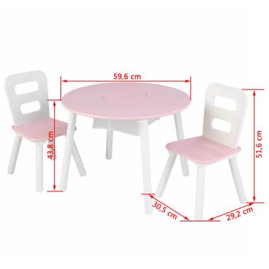 KidKraft Ensemble de table de rangement et chaises pour enfants 27065[8/8]