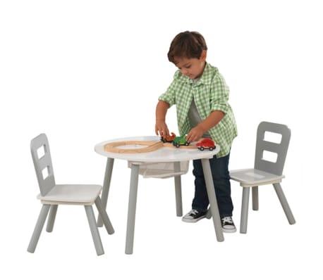 Kidkraft Kindertisch Mit 2 Stuhlen Grau Massivholz 26166 Zum