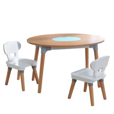 KidKraft Kindertisch mit 2 Stühlen Mid-Century Modern ...