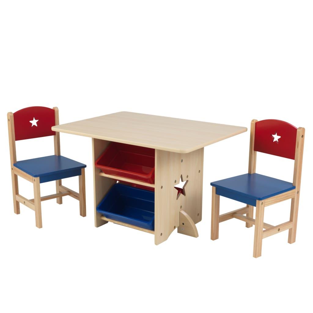KidKraft Set de masă cu 2 scaune, model stea vidaxl.ro
