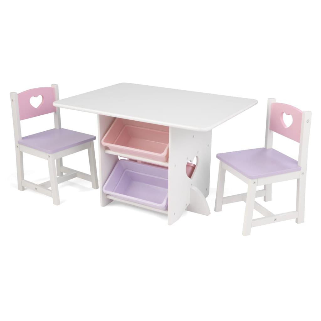 KidKraft Set de masă cu 2 scaune cu model inimă poza vidaxl.ro