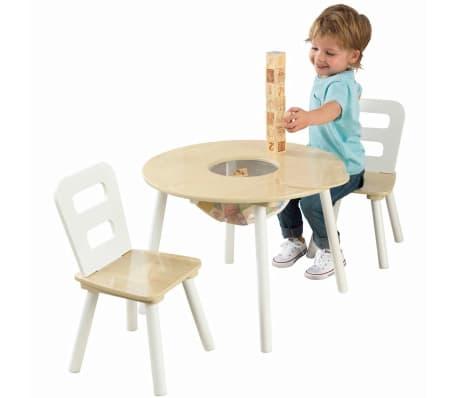 KidKraft Ensemble de table de rangement et chaises pour enfants 27027[2/9]