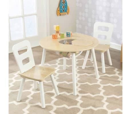 kidkraft kindertisch mit 2 st hlen braun massivholz 27027 g nstig kaufen. Black Bedroom Furniture Sets. Home Design Ideas
