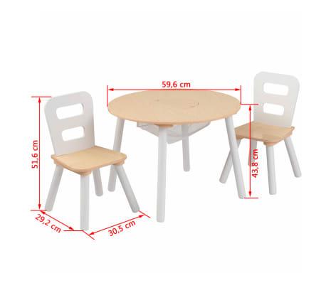 Kidkraft Kindertisch Mit 2 Stuhlen Braun Massivholz 27027 Im Vidaxl