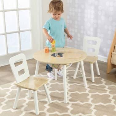 KidKraft Ensemble de table de rangement et chaises pour enfants 27027[3/9]