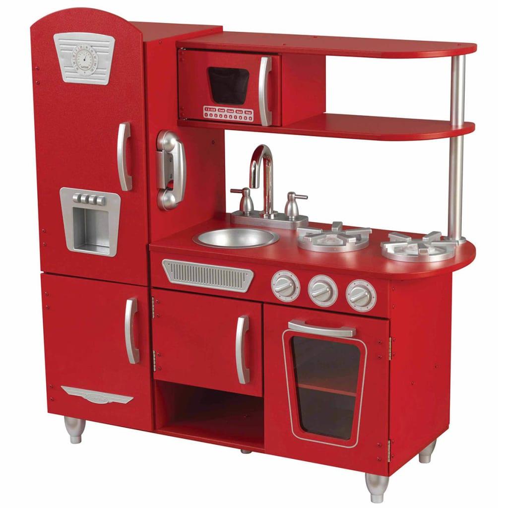 KidKraft Gammeldags lekekjøkken 83,8x34,3x90,8 cm rød 53173