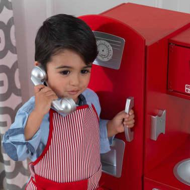 KidKraft Cuisine jouet Vintage 83,8 x 34,3 x 90,8 cm Rouge 53173[4/9]