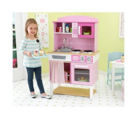 KidKraft Cuisine jouet Home Cookin' 61 x 34 x 101 cm Rose 53198[1/4]