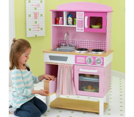 KidKraft Cuisine jouet Home Cookin' 61 x 34 x 101 cm Rose 53198[4/4]