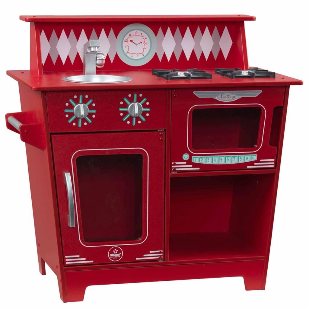 KidKraft Lekekjøkken 66,7x35x64,1 cm rød 53362
