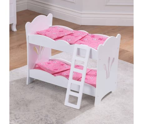 acheter kidkraft lit superpos pour poup e lil 52 7x29 5x44 5 cm blanc 60130 pas cher. Black Bedroom Furniture Sets. Home Design Ideas