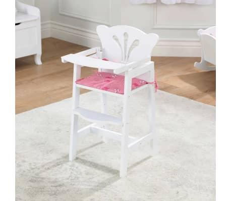 KidKraft Chaise haute de poupée Lil' 34,3 x 31 x 57,8 cm Blanc 61101[2/7]