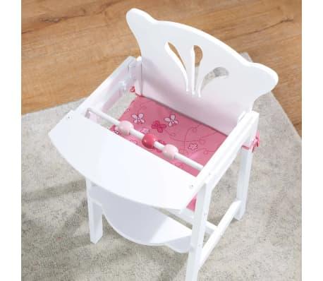 KidKraft Chaise haute de poupée Lil' 34,3 x 31 x 57,8 cm Blanc 61101[3/7]