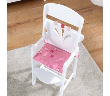 KidKraft Chaise haute de poupée Lil' 34,3 x 31 x 57,8 cm Blanc 61101[4/7]