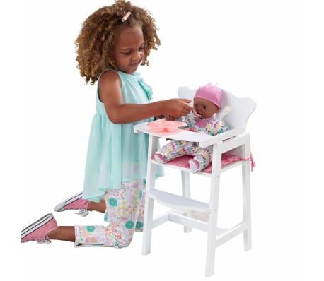 KidKraft Chaise haute de poupée Lil' 34,3 x 31 x 57,8 cm Blanc 61101[6/7]