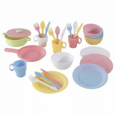 KidKraft Ensemble de jouets de vaisselle 27 pcs Pastel 63027[1/5]