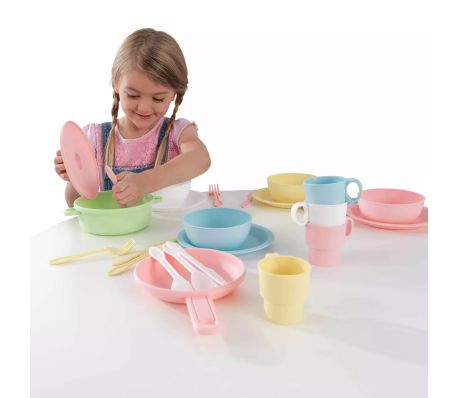 KidKraft Ensemble de jouets de vaisselle 27 pcs Pastel 63027[4/5]