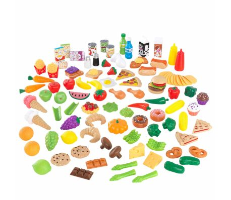KidKraft Ensemble de jeu d'aliments Tasty Treats 115 pcs 63330[1/6]