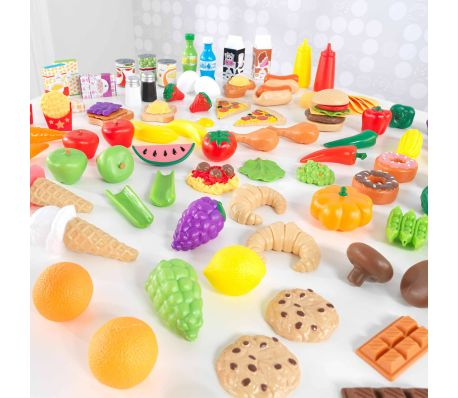KidKraft Ensemble de jeu d'aliments Tasty Treats 115 pcs 63330[4/6]