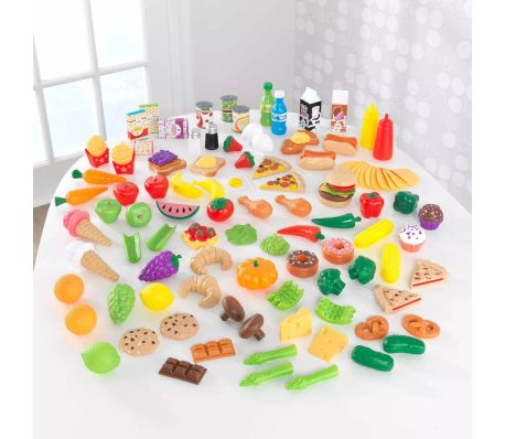 KidKraft Ensemble de jeu d'aliments Tasty Treats 115 pcs 63330[5/6]