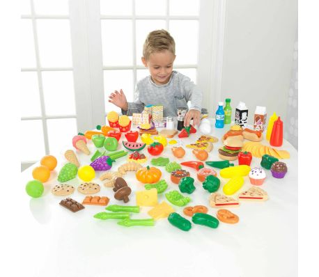 KidKraft Ensemble de jeu d'aliments Tasty Treats 115 pcs 63330[6/6]