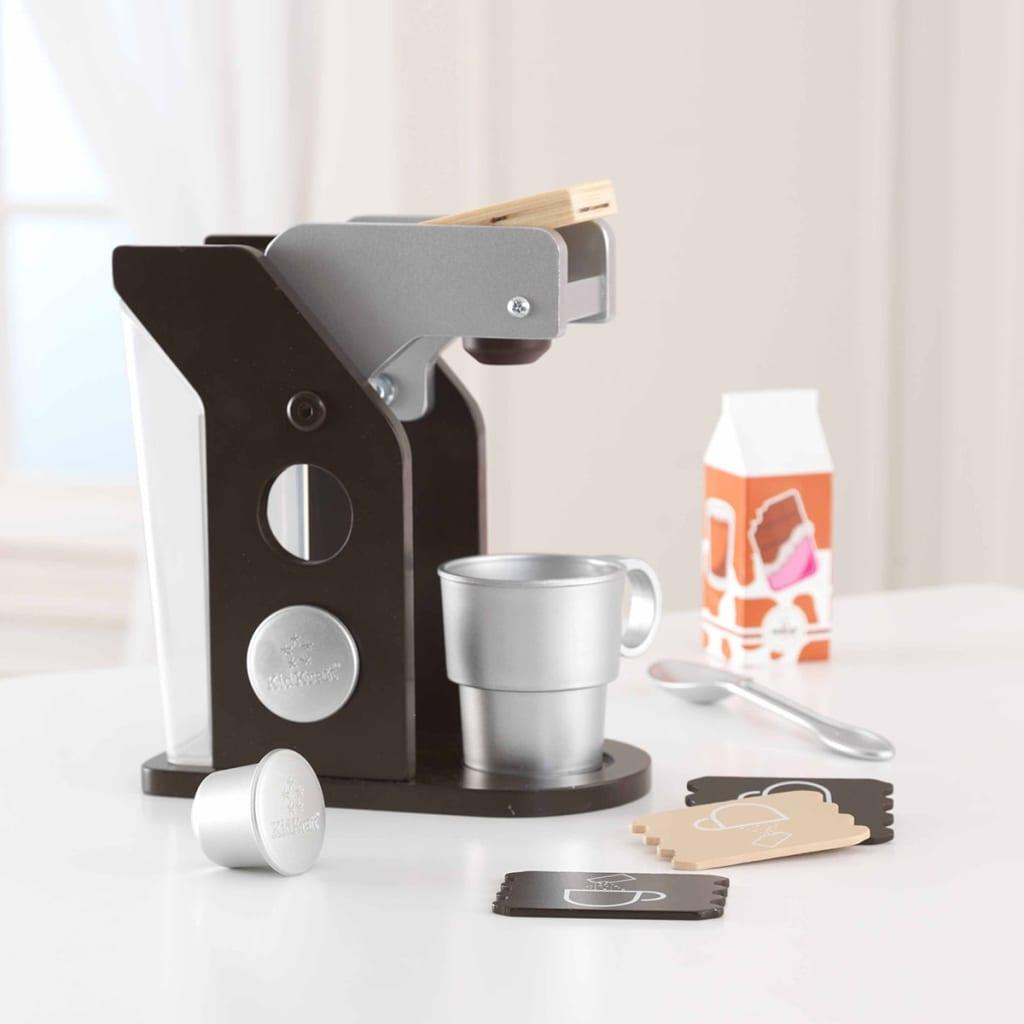 KidKraft Speelgoed koffie set bruin 10-delig 63379