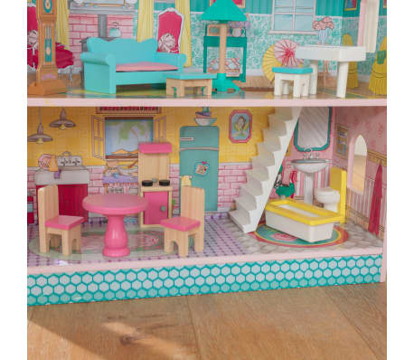 KidKraft Maison de poupées à 3 étages Abbey Manor 60,58x32,77x71,76 cm[7/9]