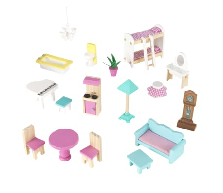 KidKraft Maison de poupées à 3 étages Abbey Manor 60,58x32,77x71,76 cm[9/9]