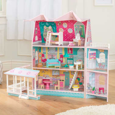 KidKraft Maison de poupées à 3 étages Abbey Manor 60,58x32,77x71,76 cm[2/9]