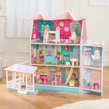 KidKraft Maison de poupées à 3 étages Abbey Manor 60,58x32,77x71,76 cm[4/9]