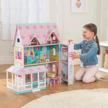 KidKraft Maison de poupées à 3 étages Abbey Manor 60,58x32,77x71,76 cm[5/9]