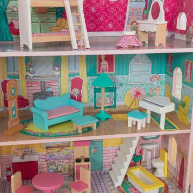 KidKraft Maison de poupées à 3 étages Abbey Manor 60,58x32,77x71,76 cm[8/9]