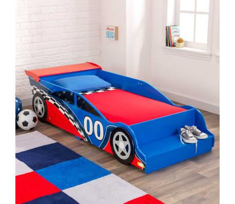 KidKraft Peuterbed Race Car rood en blauw[2/9]