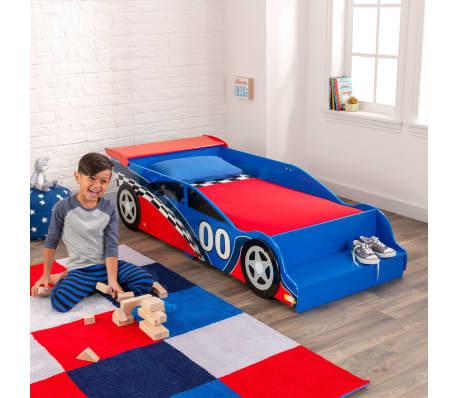KidKraft Peuterbed Race Car rood en blauw[7/9]