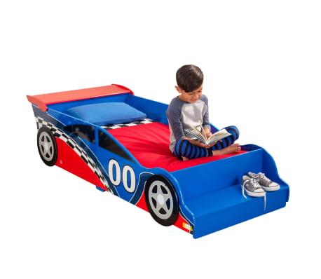 KidKraft Peuterbed Race Car rood en blauw[8/9]